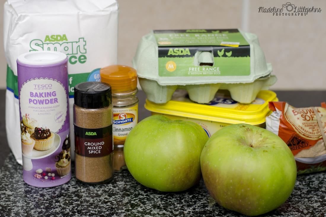 Autumn apple cake ingredients