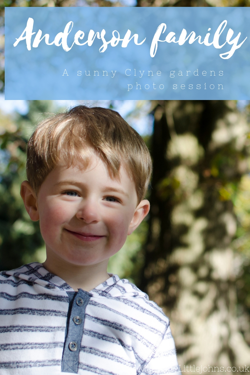Anderson family sunny Clyne gardens lifestyle family photo session Swansea